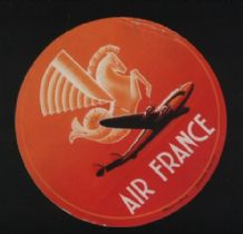 Airline luggage label  Air France #398